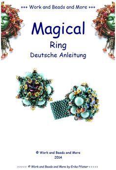 Items similar to Magical Ring Tutorial English PDF File on Etsy O Beads, Seed Beads, Ring Tutorial, Beaded Rings, Beading Tutorials, Christmas Wreaths, Brooch, Etsy, Holiday Decor