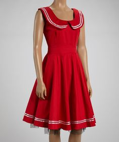 Another great find on #zulily! HEARTS & ROSES LONDON Red & White Sailor Dress by HEARTS & ROSES LONDON #zulilyfinds
