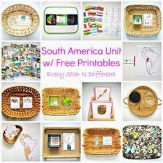 Montessori-inspired South America themed learning activities and free printables for kids. Geography For Kids, Geography Lessons, Teaching Geography, World Geography, Geography Activities, Montessori Materials, Montessori Activities, Preschool Activities, Continents Activities