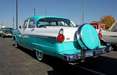 This is a 1956 Ford Fairlane Victoria with Continental Kit.  I use to have a Black one.