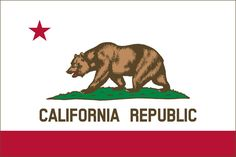 The historic bear flag was raised at Sonoma, California in 1846 by settlers in revolt against Mexican rule; adopted as the state flag of California in California Republic Flag, California Flag, Us States Flags, Us Flags, County Flags, Bud Light Can, Yacht Week, Flags Of The World, National Flag