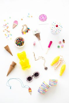 an ice cream party full of sweet things!