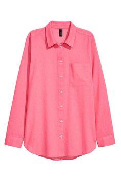 Хлопковая рубашка - Розовый - Женщины | H&M RU