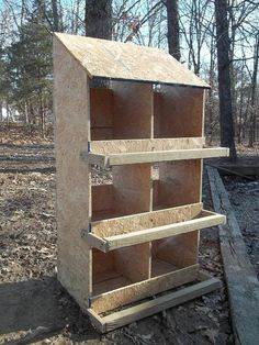 Nice Handmade Wooden Chicken Nest Box Nestbox by LittleAngelsFarms, $109.00