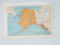 alaska is already on my bucket list, so why not adorn my walls with a vintage map of it?