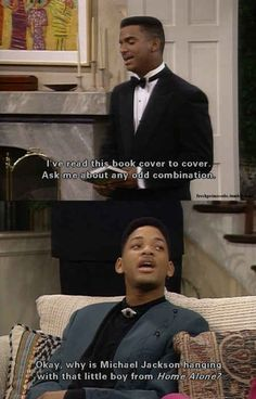 On odd combinations: | 30 Times The Fresh Prince Was The Wittiest Person On '90s TV