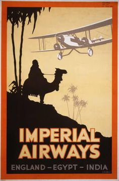 vintage everyday: Vintage British Aviation Posters between 1920's-30's