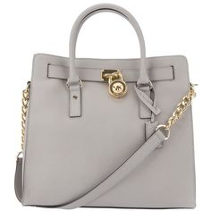 Michael Kors 'Hamilton' bag ($428) ❤ liked on Polyvore featuring bags, handbags, tote bags, purses, bolsas, borse, michael kors tote, leather handbags, genuine leather purse and michael kors purses