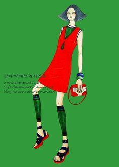 VOGUE ♥ marker+colorpencil ♥ zammza fashion illustration ♥ instagram.com/zammza