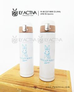 Vacuum Flask Sablon -- Bu Priska, Surabaya