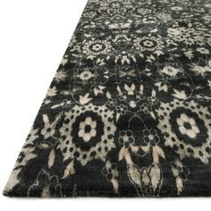 Journey 9 Black/Silver - An antiqued or patina finish fits well into the nostalgia and retro styles popular these days - from Shabby Chic to Transitional to Eclectic of Bohemian... These rugs add subtle dimension and visual interest to an interior design decorating project. #rugs #loveofrugs @nwrugs #design trend