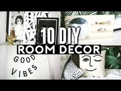 10 DIY room decor Ideas for 2017! ✂️   - YouTube Fake plant in a jar of water? Would I like it in reality....hummm....?