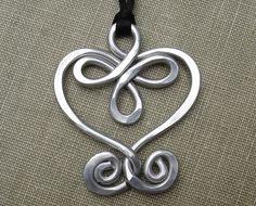 Big Celtic Heart Aluminum Pendant Valentine's by nicholasandfelice