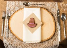 Cowboy hat name / place card cookie