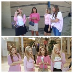 """Homecoming Spirit Week - Mean Girls Day! """"On Wednesday's we wear pink."""""""