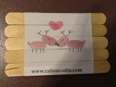 Un puzzle de noël avec des rennes du père Noël #bricolage #puzzle #noel #maternelle #caboucadin