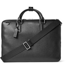 Smythson is world-renowned for its unmatched quality and craftsmanship, as this 'Burlington' briefcase will testify. Impeccably made in Italy from supple grained-leather, it's lined in durable canvas to withstand daily wear and tear and has a detachable shoulder strap to help lighten heavier loads. It's sized to comfortably hold a laptop, documents and other boardroom essentials.