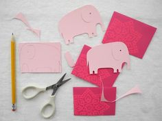 DIY these cute elephant invitations for your little peanut baby shower!
