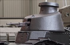 Renault FT 17 Tank turret armed with a Hotchkiss 8mm M1914 machine gun