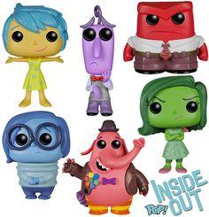 Funko Pop Disney/pixar Inside out Set of 6 Anger Sadness Joy Fear Disgust for sale online Disney Pop, Disney Pixar, Film Disney, Pop Vinyl Figures, Funko Pop Figures, Toy Art, Pop Vinyl Collection, Funko Pop Dolls, Funk Pop