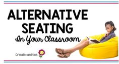 This post is full of great ideas for alternate or flexible seating in the elementary classroom! You'll find inspiration, tips, and a note for parents. Whether you use bean bag chairs, stability balls, stools, couches, tables, or floor pillows, you will find wonderful suggestions for your room. Give your students choices so they can learn and grow. See how this could be used in your Kindergarten, 1st, 2nd, 3rd, 4th, 5th, or 6th grade classroom! {first, second, third, fourth, fifth, sixth…
