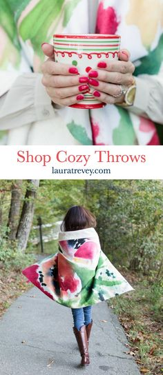 Shop Cozy Throws - Laura Trevey Home for the Holidays Collection