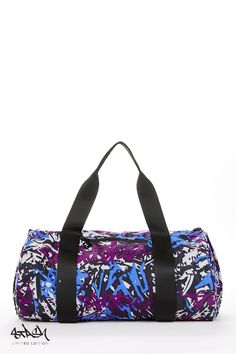 This is on my wish list!  I have several @fabletics bags but I love purple/blue graffiti look!  #ambsdr