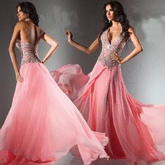 FREE SHIPPING-Amazing beading Halter Front Slit Chiffon Sexy Matric Farewell Dress- US Size 2 to 24W for R2,640.00