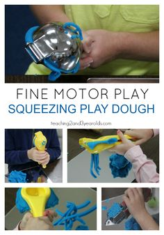 Easy Playdough Idea that Strengthens Fine Motor Skills - Looking for an easy way to strengthen your children's fine motor skills? Add some citrus squeezers - Motor Skills Activities, Toddler Learning Activities, Gross Motor Skills, Hands On Activities, Kids Learning, Activities For Kids, Nutrition Activities, Playdough Activities, Graffiti