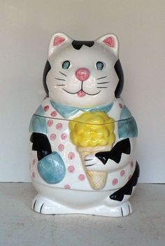 cookie jars collectibles | ... ice cream cone cookie jar this collectible cat cookie jar is excellent