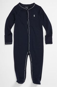 Ralph Lauren Footie (Baby) available at #Nordstrom baby's going home outfit?