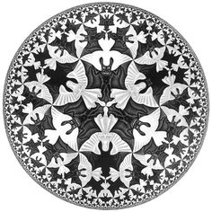 The Graphic Work of M. C. Escher (part 1) | Alice's Notes from Underground Circle limit IV (Heaven and Hell),