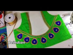 Easy lace blouse design/blouse designs In this video i show you how to make easy simple and beautiful blouse back neck design cutting and stitching. Cutwork Blouse Designs, Patch Work Blouse Designs, Saree Blouse Neck Designs, Hand Work Blouse Design, Simple Blouse Designs, Kurti Neck Designs, Sari Blouse, Chudidhar Neck Designs, Dress Neck Designs