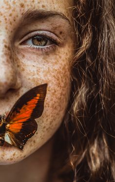 Metamorphosis on Behance Concept Photography, Eye Photography, Creative Photography, Beautiful Freckles, Beautiful Eyes, And God Created Woman, Creative Portraits, Pictures, Butterflies