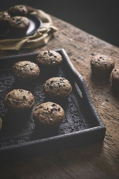 Buckwheat Banana Muffins with Chocolate Chunks & Cacao Nibs by carey nershi, via Flickr