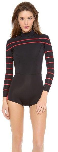 Cynthia Rowley Striped Wetsuit on shopstyle.com Swim Days 6a4790cd4