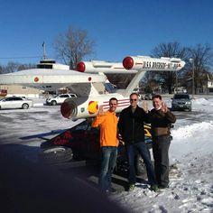 Dr. Bill Andrews, the man who will stop time or die trying! At the birthplace of Captain James T. Kirk, in Riverside, Iowa.