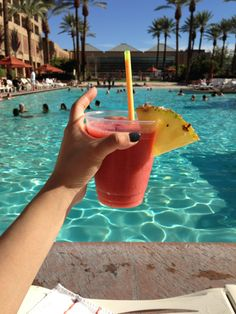 Nothing better than poolside cocktails | Palm Springs