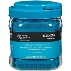 Master Grooming Tools Flea Comb Canisters    Effective Flea Combs for Grooming Dogs 100Count Canister >>> Check out the image by visiting the link. This Amazon pins is an affiliate link to Amazon.