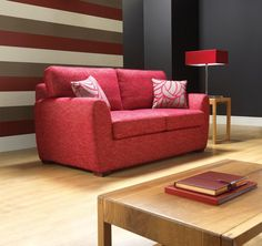 Florence Sofa Bed from George Tannahill & Sons - Red sofas to brighten up a living space.