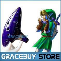 12 Löcher Ocarina Legend of Zelda Alto C Flöte Occarina Wasserhähne Blau Keramik/Ton stl Orcarina Inspiriert von Zeit Musikinstrument