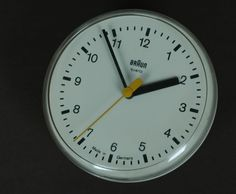 Braun's first wall clock, the Domo Fix+Flex, designed by Dietrich Lubs in 1979
