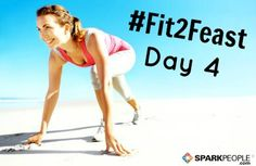 """Good morning, everyone! Who's ready for Day 4 of #Fit2Feast? Hit """"Like"""" if you've already gotten at least 10 minutes of #fitness in today! Need some ideas to burn off some major calories? We've got 50 of them right here: http://www.sparkpeople.com/resource/fitness_articles.asp?id=1777 