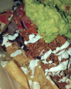 Dinner with the Manbeast at #guzmanygomez - #nachos all round!  #gyg @guzmanygomez