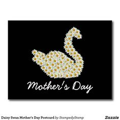 Daisy Swan Mother's Day Postcard