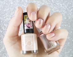 Glitter and Nails: Nude mat & triangles métalliques