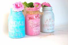 Painted mason jars by Lollipopfigurine on Etsy, $18.00