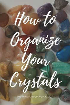 Are your crystals and stones out of control? Do they need organizing? Here's a how-to tutorial on how I store my gemstones and chakra stones. #crystals #gemstones #gems #crystalhealing #organize #organizing #storage #storagesolutions #tips #tipsandtricks #tutorial
