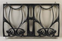 cast iron balcony grille, Hector Guimard, ca. Balcony Grill, Iron Balcony, Balcony Railing, Art Nouveau Interior, Art Nouveau Furniture, Hector Guimard, Metal Garden Gates, Motif Art Deco, Back Art