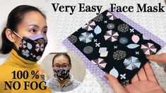 Sewing Lessons, Sewing Hacks, Sewing Tutorials, Sewing Crafts, Sewing Projects, Easy Face Masks, Homemade Face Masks, Diy Face Mask, Diy Mask